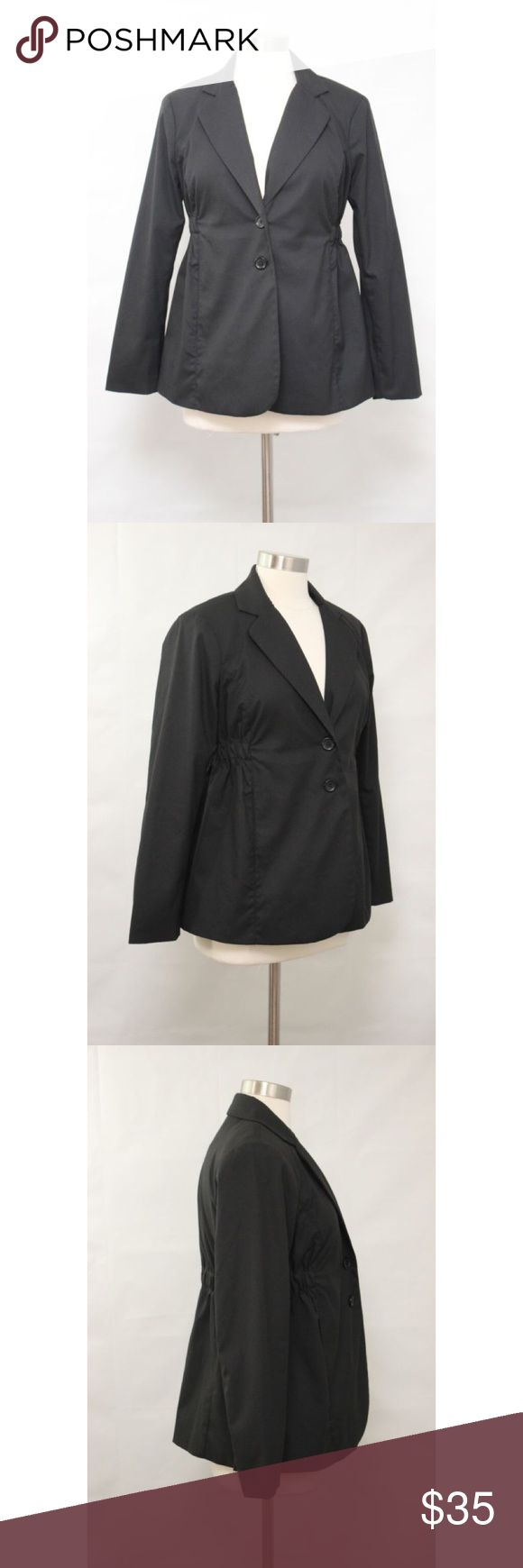 """Motherhood Maternity Special Edition Black Blazer Motherhood Maternity Special Edition Black Career Blazer.  Measurements (flat / un-stretched): Tagged Size: M Bust: 39"""" Sleeve: 24"""" Length (shoulder to hemline): 25½"""" Motherhood Maternity Jackets & Coats Blazers"""