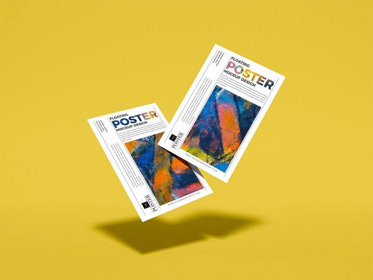 Two Floating Posters Design Mockup Free Mockup Mockup Design Poster Mockup Design Mockup Free