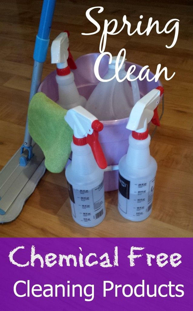 Chemical Free Cleaning Products for Spring Cleaning - Economical!  So easy and save tons of money versus buying expensive chemical filled products!