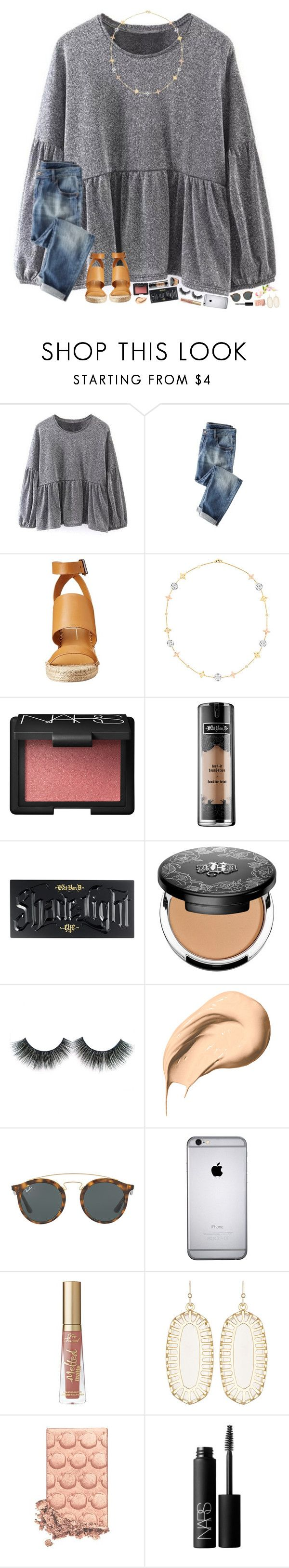"""""""the dance was so so so much fun!!"""" by hopemarlee ❤ liked on Polyvore featuring Dolce Vita, Idylle, NARS Cosmetics, Kat Von D, Bobbi Brown Cosmetics, Ray-Ban, Too Faced Cosmetics, Kendra Scott and hmsloves"""