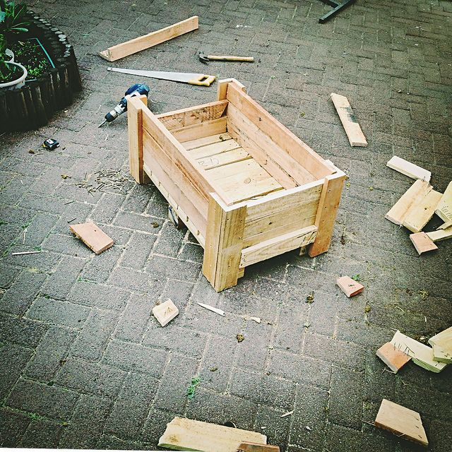 185 best pallet garden images on pinterest pallet for Recycle pallets as garden planters