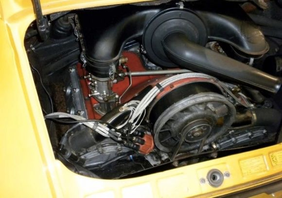 1967 Porsche 911S Barn Find Bahama Yellow Sports Kit Project Car For Sale Engine
