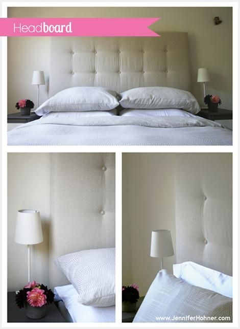 DIY Custom Canvas Headboard DIY home furniture
