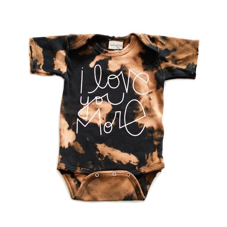Acid Wash Distressed I love you More Onesie / baby girl clothes / baby boy clothes / trendy baby clothes / hipster kid clothing / hipster baby