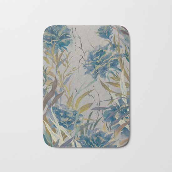 vintage asian floral Bath Mat