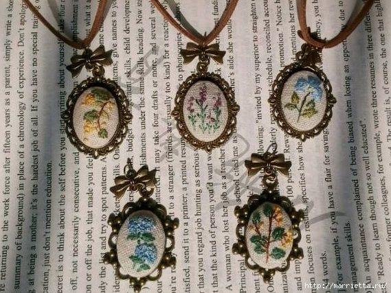 Медальоны с вышивкой (мастер-класс) » Женский Мир