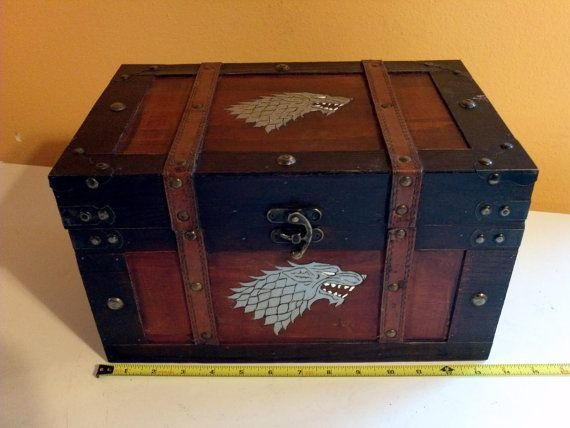 Game Of Thrones House Stark Small Chest Keepsake By Cdscrafting 68 00