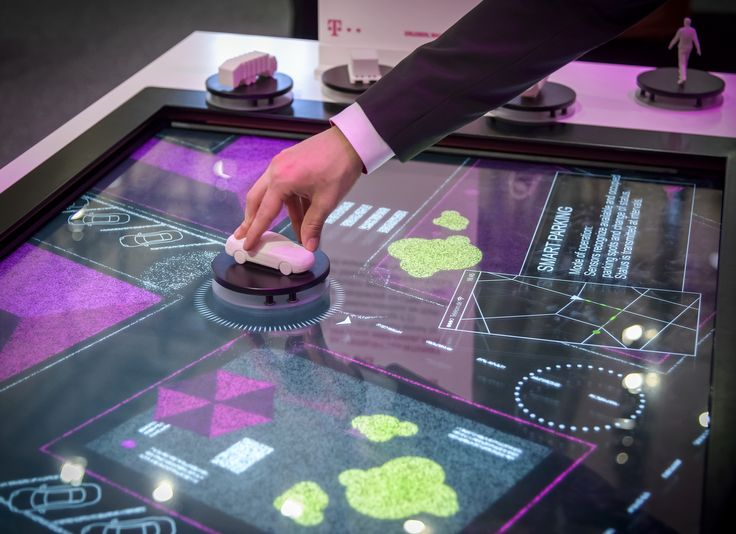 interactive multi-touch and object-tracking exhibit, showcasing low power wide area technology | brand experince | 3D communication | trade fair | exh…