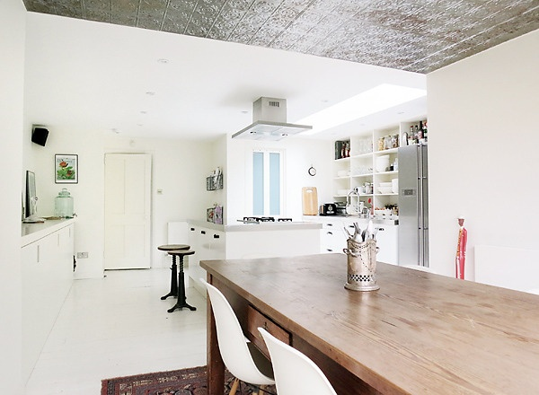 .: Houses, Kitchens Design, Tins Ceilings, Eclectic Dining Rooms, Design Ideas, Interiors Design, Kate Watson Smyth, Tins Tile, White Kitchens