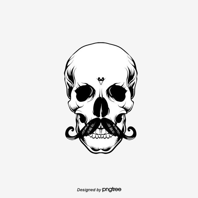 Bearded Skull Skull Clipart Hand Painted Cartoon Skull Png Transparent Clipart Image And Psd File For Free Download Skull Beard Skull Art
