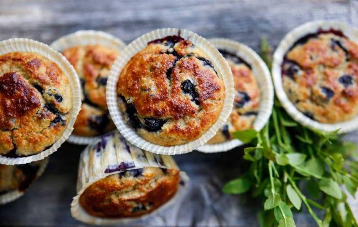 paleomuffins med blåbär och kardemumma