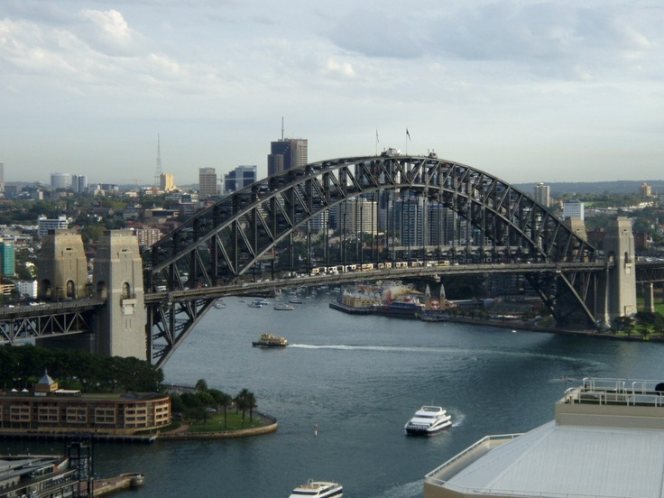 The view from my hotel in Sydney Australia