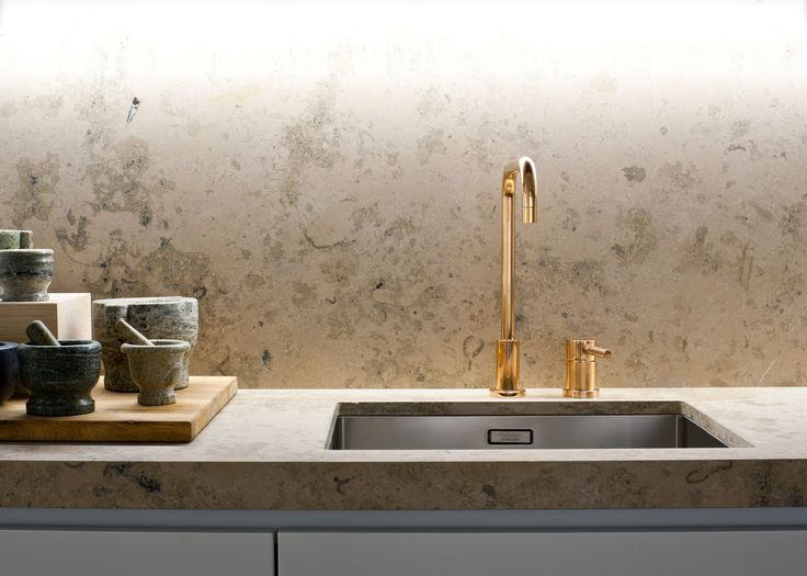 Oscar Properties: Norra Tornen  #oscarproperties kitchen, sink, pots, design, interior, basim, marble