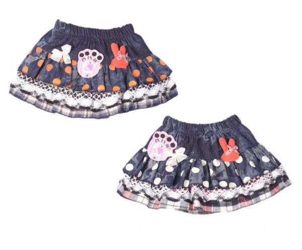 Дети девушки джинсовая юбка горошек лейси девушки джинсовая юбка мульти-карман слоя плед дети джинсы брюки-шорты маленькая девочка школы юбка