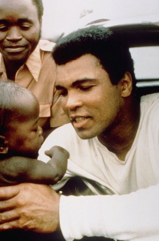 Muhammad Ali vs. George Foreman legendary fight in Kinshasa. The Rumble in the Jungle, now 40 years ago.