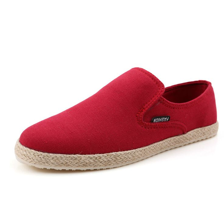Find More Loafers Information about Designer Mens Slip On Hemp Shoes Cheap Loafers Chaussures Hommes Size 39 to 44 Beige Blue Red From Shoesmansway,High Quality Loafers from shoesmansway on Aliexpress.com