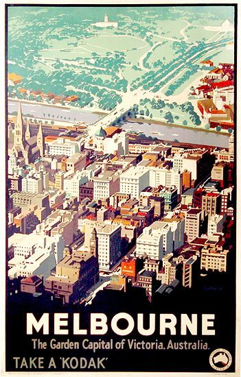 Art deco Kodak poster of melbourne, its everything i want in life!