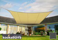 Kookaburra 3.6m Square Sand Waterproof Woven Shade Sail