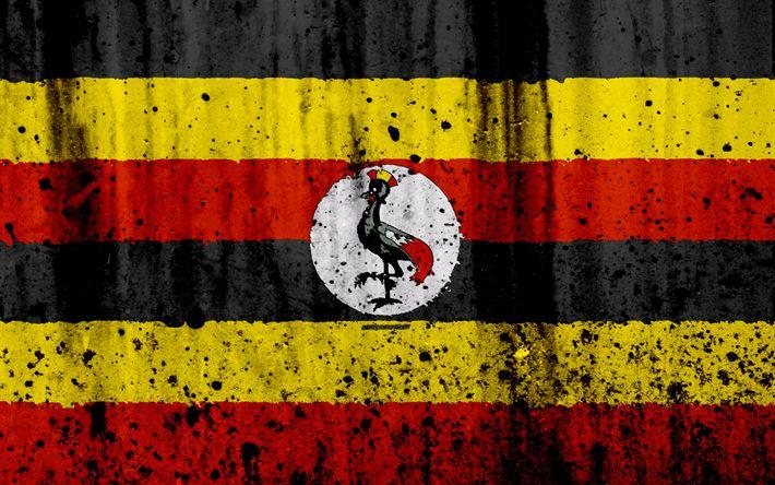 Download wallpapers Ugandan flag, 4k, grunge, flag of Uganda, Africa, Uganda, national symbols, Uganda national flag