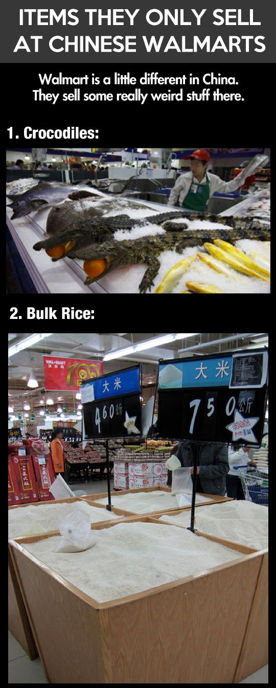 Weird things they only sell at Chinese Walmarts…ew and we eat the crap they produce.
