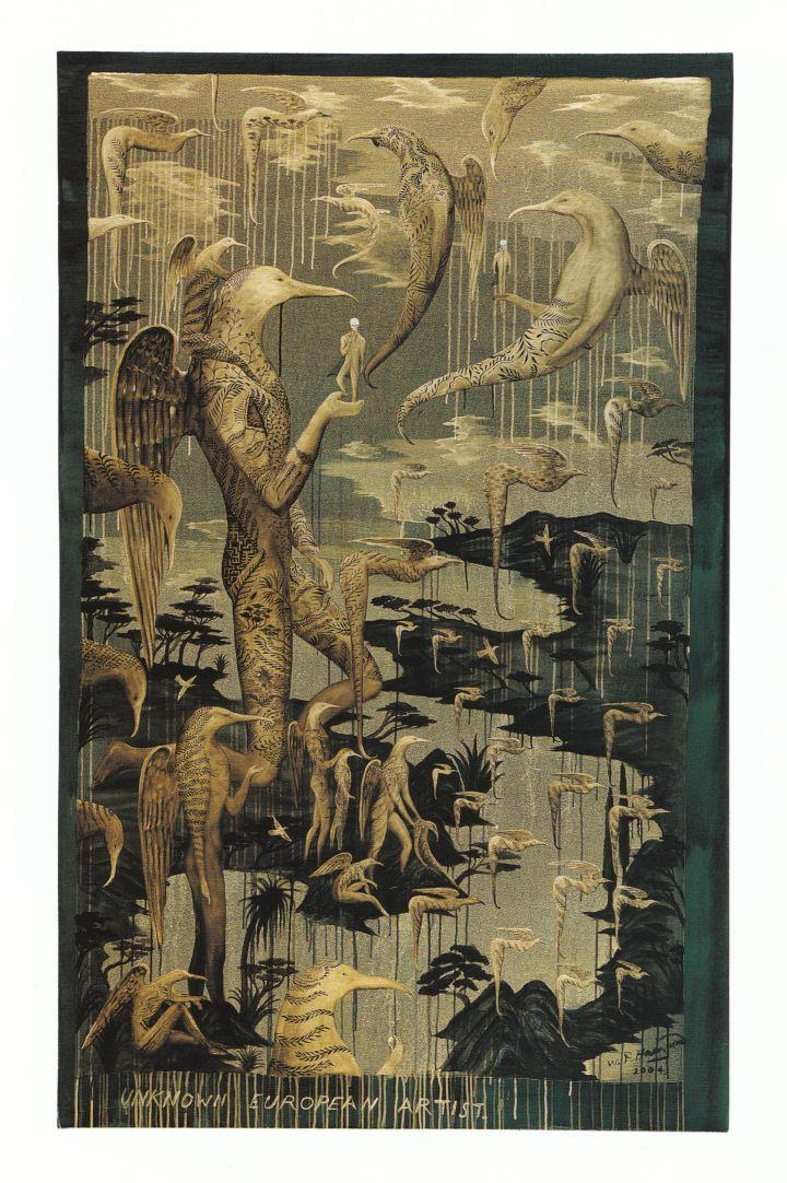 Bill Hammond, Unknown European Artist, 2004. Acrylic on canvas, 2000 x 1200mm. The Stevenson Collection.