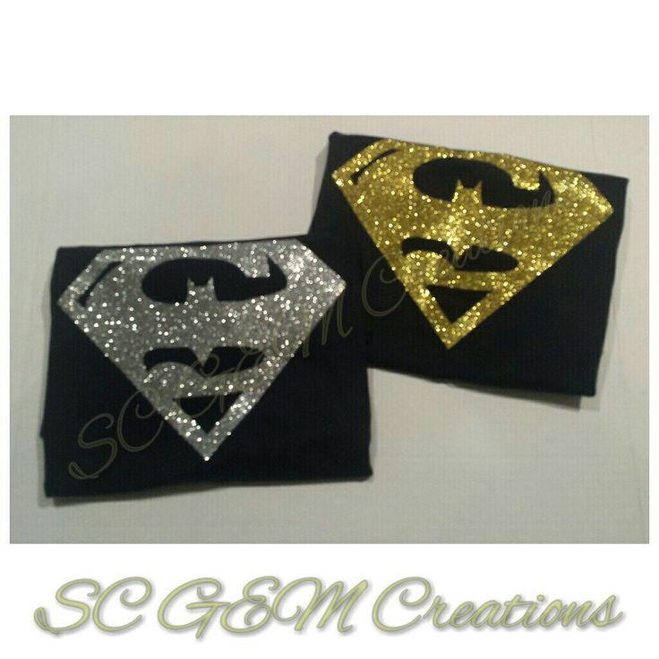 Batman vs Superman Shirt (Glitter) by SCGEMCreations on Etsy https://www.etsy.com/listing/254945771/batman-vs-superman-shirt-glitter