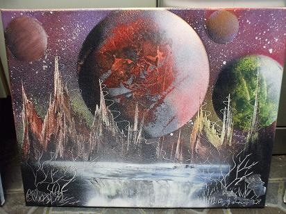 Space City - spray painting