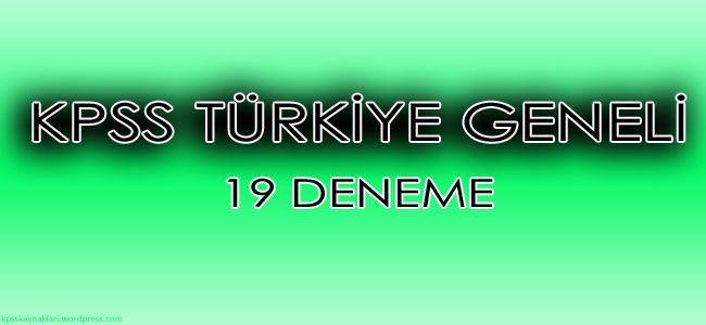 Kpss Türkiye çapında yapılmış ölçücü kaliteli sorular barındıran 19 deneme.Pdf olarak linkten edinebilirsiniz.İyi çalışmalar.