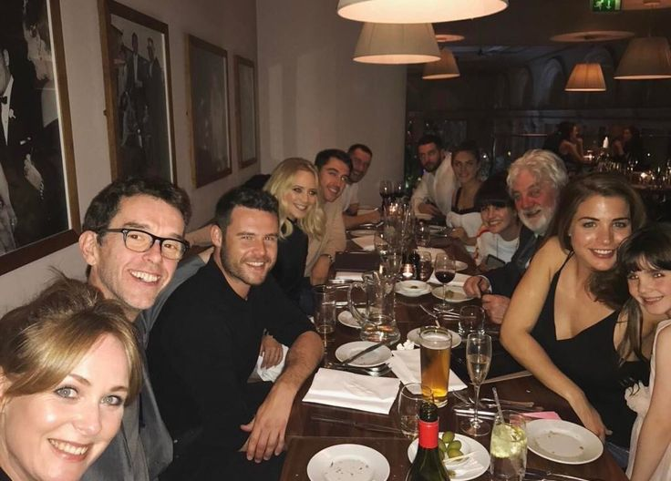 Danny Miller and some of the Emmerdale cast