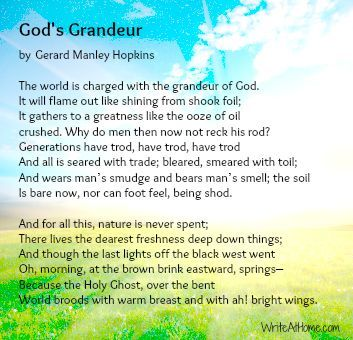 God's Grandeur: a closer look at a poem by Gerard Manley Hopkins