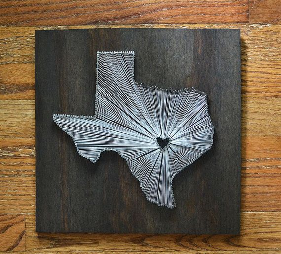 Stained Texas State String Art - Austin, Texas - Stained Nail Art - University of Texas Longhorns on Etsy, $55.00