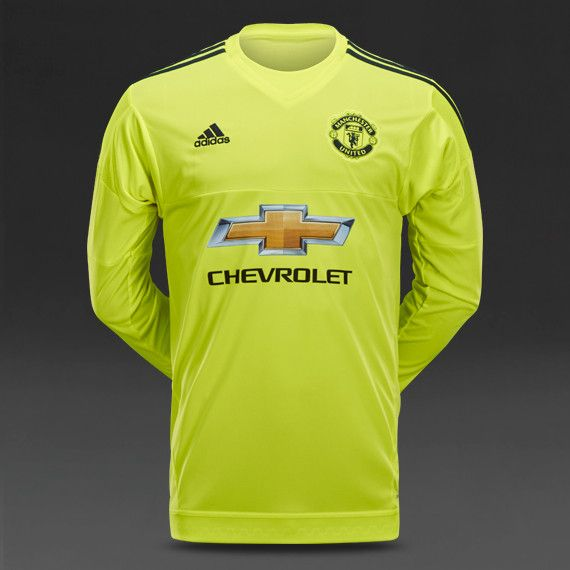 manchester united 2015 2016 away goalkeeper long sleeve soccer jersey