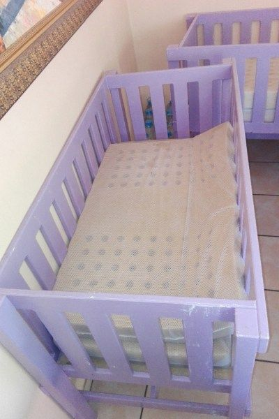 Wooden cots for sale. Price for both - Bed Time-Cots-Gauteng, R600.00 - https://babydorie.co.za/second-hand-cots/wooden-cots-for-sale-price-for-both.html