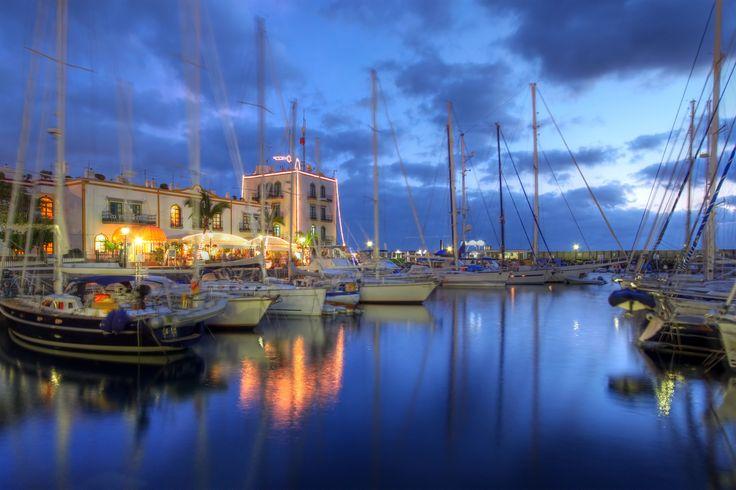 Sunset in Puerto de Mogan, Gran Canaria, #Spain