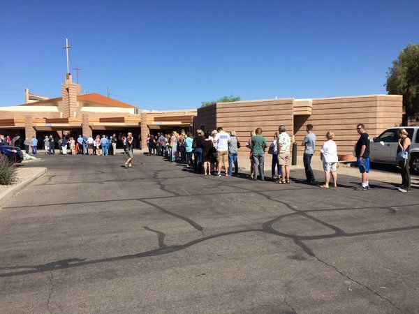 Arizona, Utah and American Samoa are voting today. If you are voting in these elections today perhaps you would share a mid-day ground report from your neighborhood, city or polling location: ARIZ…