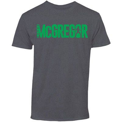 UFC Conor McGregor Fighter Lettering T-Shirt - 3XL - Charcoal