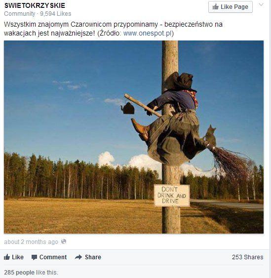 Najbardziej interaktywny post opublikowany w okresie wakacyjnym przez regiony