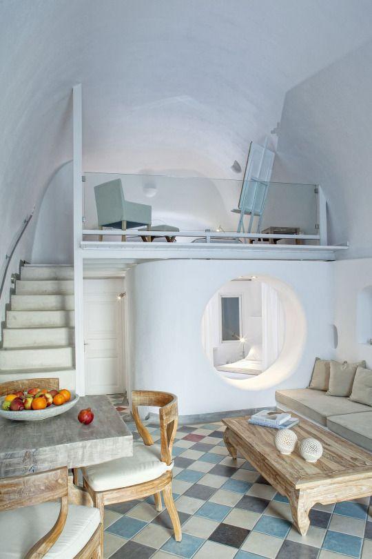 Ikastikies Elegant Suites - Santorini, Greece  A striking Santorini hotel in the…