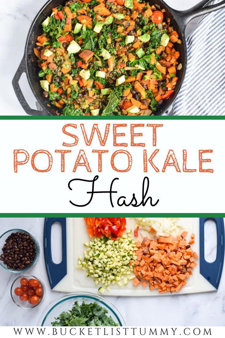 Vegan Sweet Potato Kale Hash The Best Veggie Hash In 2020 Vegetarian Recipes Healthy Sweet Potato Kale Hash Sweet Potato Kale