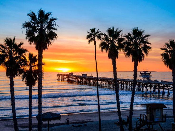 San Diego Iphone Wallpaper San Clemente Pier At Sunset California San Clemente