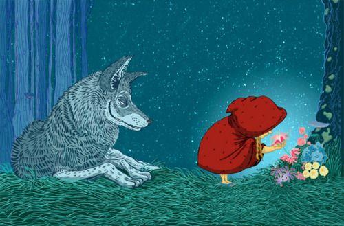 "fairytalemood: ""Little Red Riding Hood"" by Jose Fragoso"
