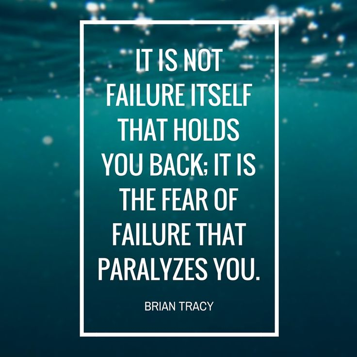 Never allow the fear of failure to paralyze you. #inspiration #success