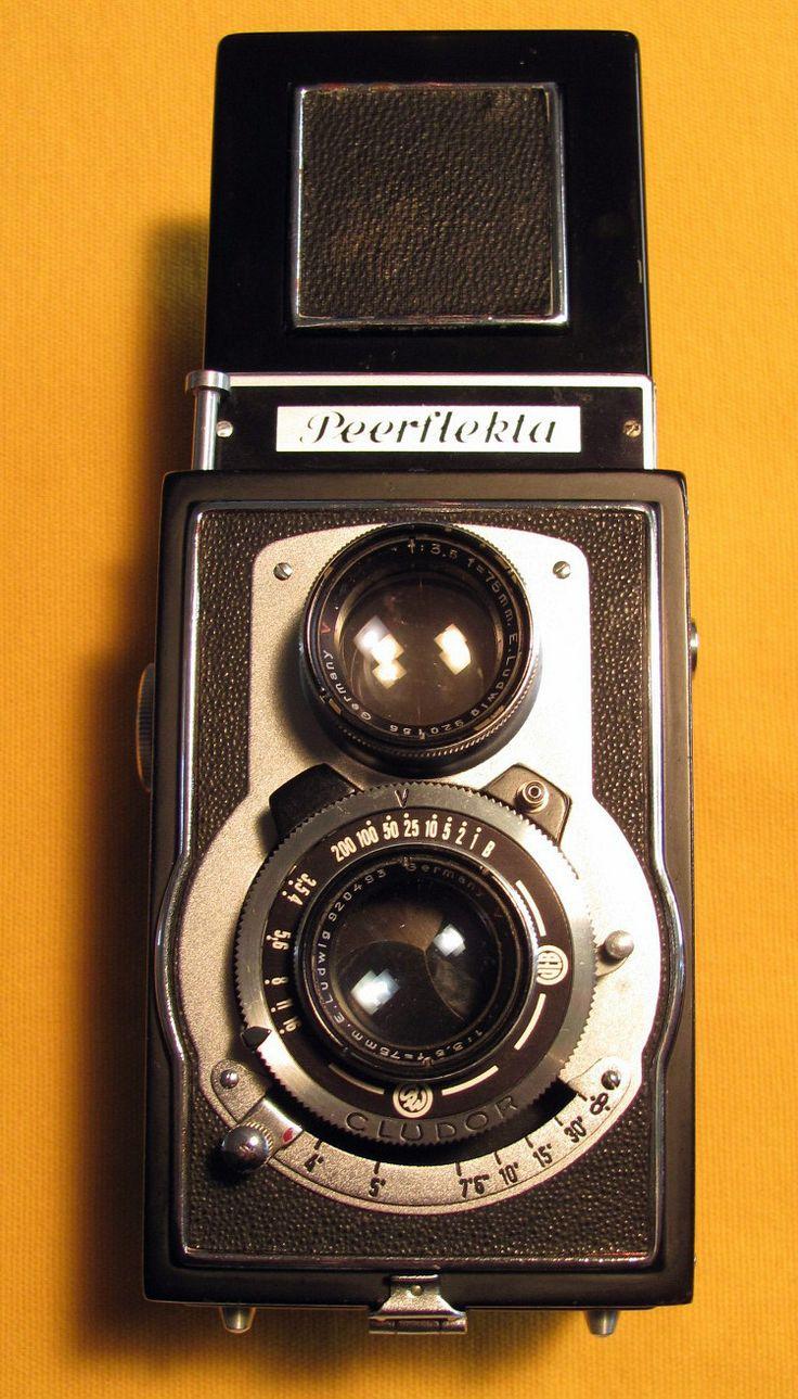 Vintage Welta Peerflekta Twin Lens Reflex Camera E Ludwig 75mm F 3 5 Very Rare | eBay