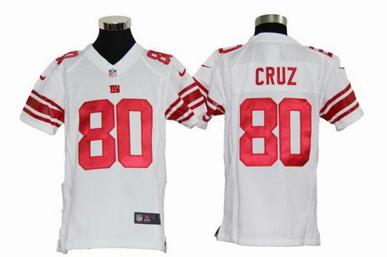 Nike Giants #80 Victor Cruz White Youth NFL Game Jersey