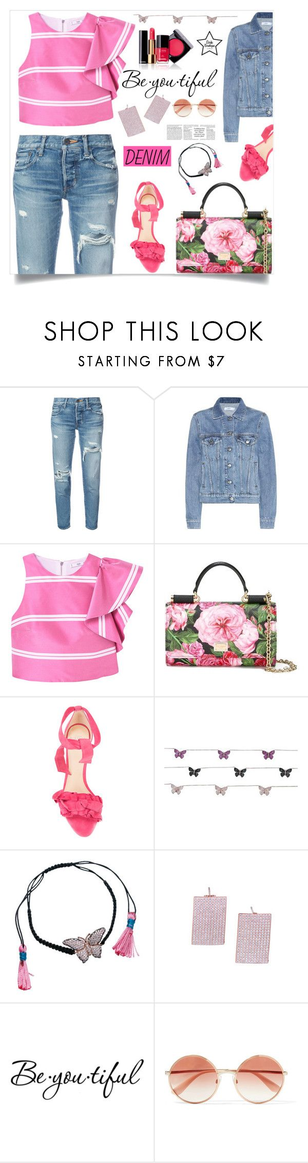 """Tear it Up: Distressed Denim"" by samra-bv ❤ liked on Polyvore featuring moussy, Closed, MANGO, Dolce&Gabbana, Alexandre Birman, Chanel and Schone"