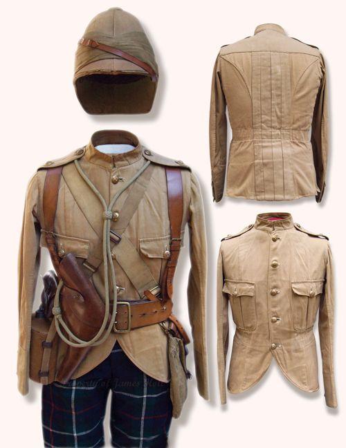 Highland Light Infantry, Officers Regimental Doublet and McKenzie tartan breeches,