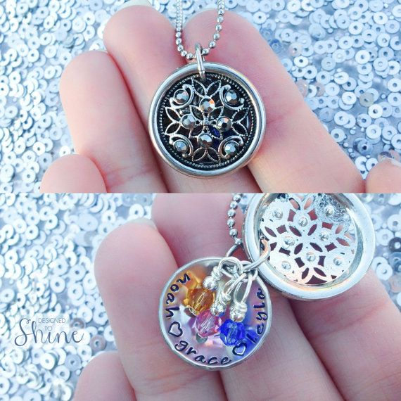 Mommy Filigree Locket with Names and van DesignedToShineAcc op Etsy, $37.00