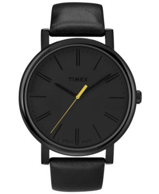 Timex: Analog Clocks, Timex Watches, Style, Black Leather, Leather Straps, Easy Readers, Accessories, Men Watches, Timex Easy