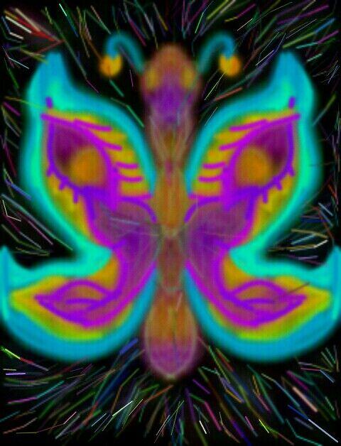 Artfly butterfly  in glow art fantasy
