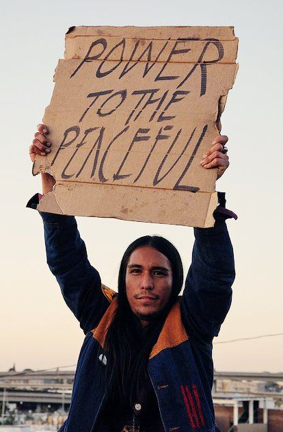 """Power to the Peaceful"""